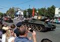 Торжественный парад с участием восстановленного танка Т-34, освобождавшего Берлин