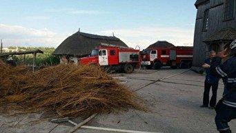 Пожар в музее на Хортице