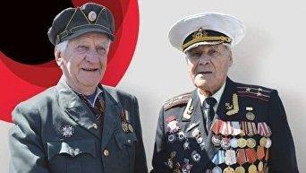 Рукопожатие сотника УПА Степана Петраша и ветерана Советской Армии Ивана Залужного