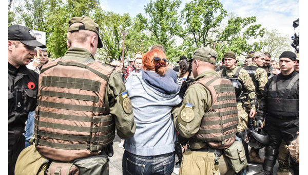 Хулиганство изапрещенная символика: вОдессе задержаны 15 человек