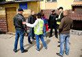 В Хмельницком задержали мужчину с рюкзаком с советской символикой