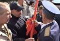 В Житомире произошли потасовки из-за советской символики