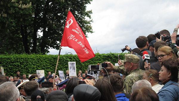 Потасовки в Парке Славы в Киеве