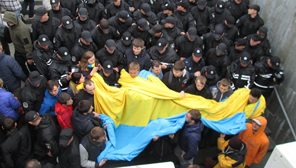 Стычки в центре Киева на 9 мая