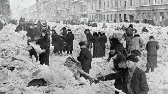Блокадный Ленинград. Архивное фото
