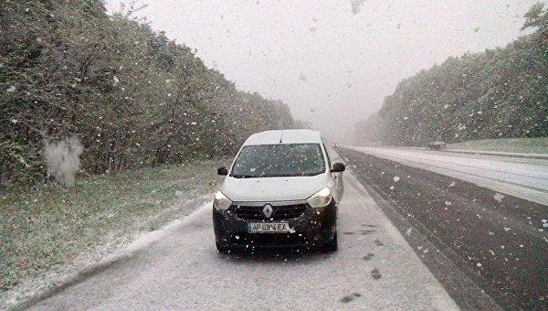 Снег в Чернигове