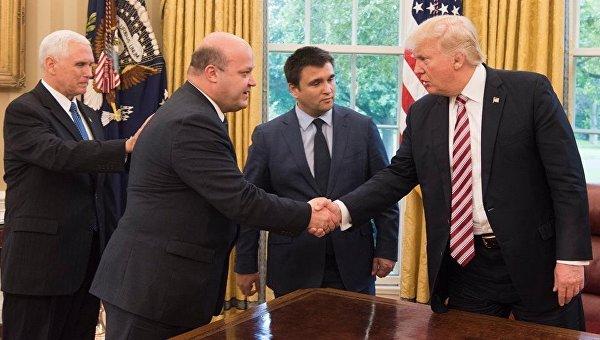 Майкл Пенс, Валерий Чалый, Павел Климкин и Дональд Трамп (слева направо)