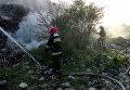 Пожар на мусорном полигоне в Ровенской области, 11 мая 2017