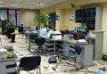 Появились фото поврежденного офиса николаевского банка от мощного взрыва