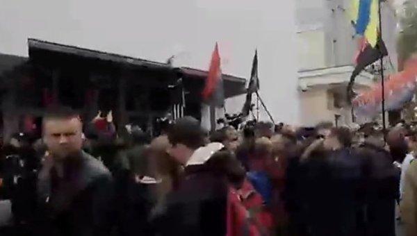 Акция протеста ОУН под зданием Министерства внутренних дел
