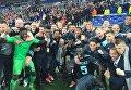 Футболисты Аякса радуются выходу в финал Лиги Европы