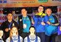 Члены сборной Украины по тайскому боксу на ЧМ в Минске