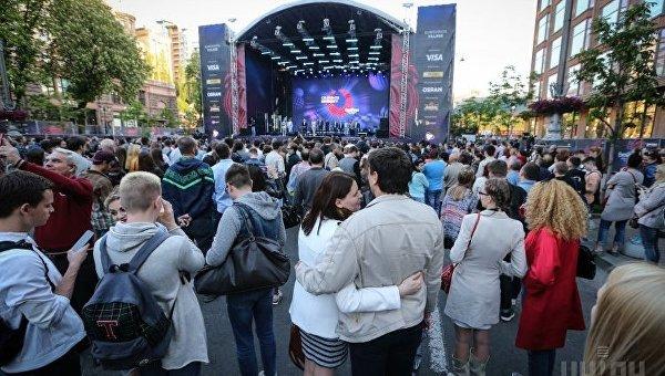Фан-зона Евровидения в Киеве