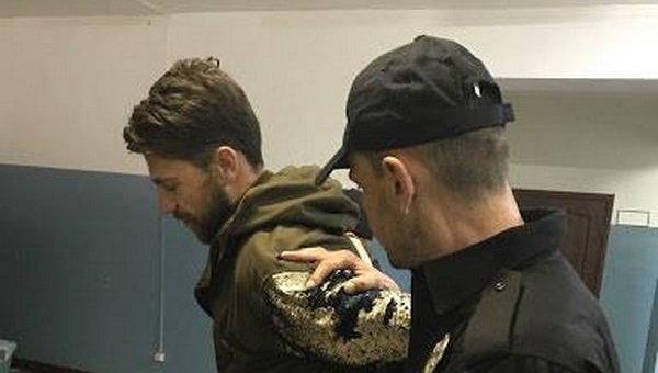 Задержанный пранкер Виталий Седюк, который во время финала Евровидения в Киеве снял штаны на сцене