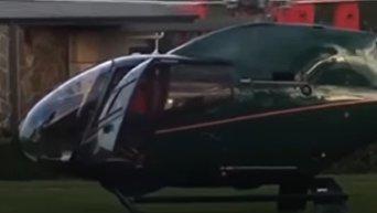 За гамбургерами на вертолете. Инцидент у ресторана быстрого питания в Сиднее. Видео