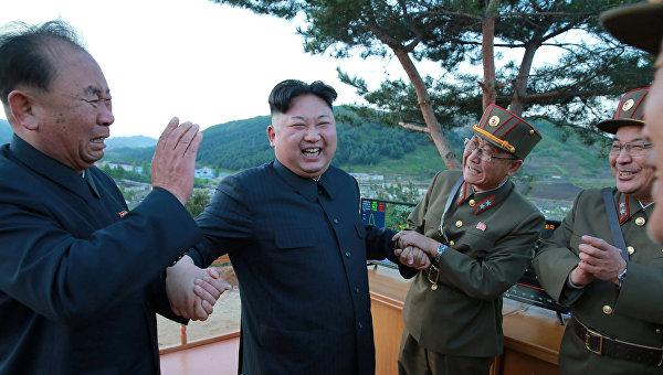 Запуск баллистической ракеты КНДР