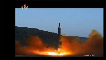 Опубликованы кадры пуска новой баллистической ракеты КНДР