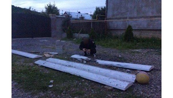 Взрыв в Мукачево