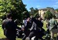В США  охранники Эрдогана избили протестующих