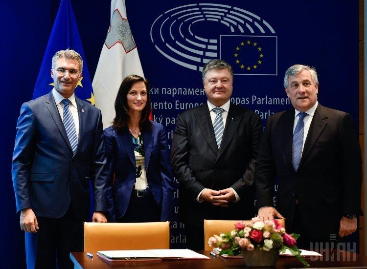 Торжественная церемония подписания решения ЕС о введении безвизового режима для граждан Украины