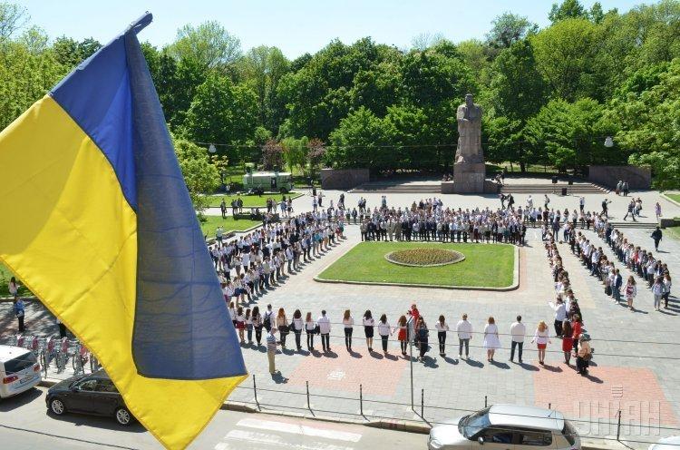 Флешмоб ко Дню вышиванки в Университете Франка во Львове