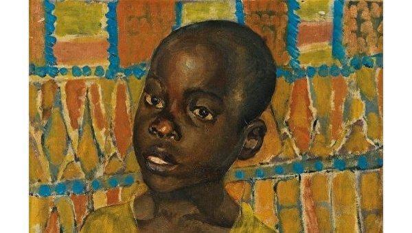Портрет африканского мальчика кисти Петрова-Водкина