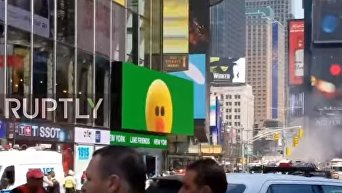 Наезд на пешеходов в Нью-Йорке. Видео