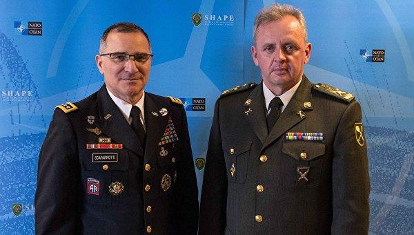 Встреча Виктора Муженко с главнокомандующим вооруженных сил НАТО в Европе генералом Кертисом Скапаротти