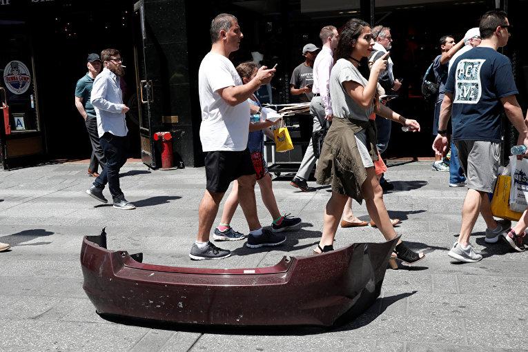 Наезд автомобиля на пешеходов в Нью-Йорке