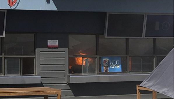 На конференции Google в Калифорнии вспыхнул пожар