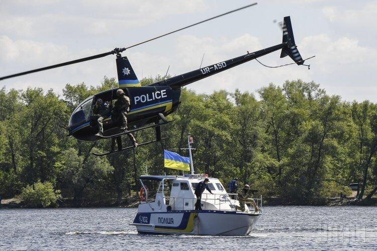 Запуск речной полиции в Киеве