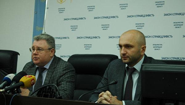 Прокурор Запорожской области Валерий Романов и заместитель Артур Шаповалов