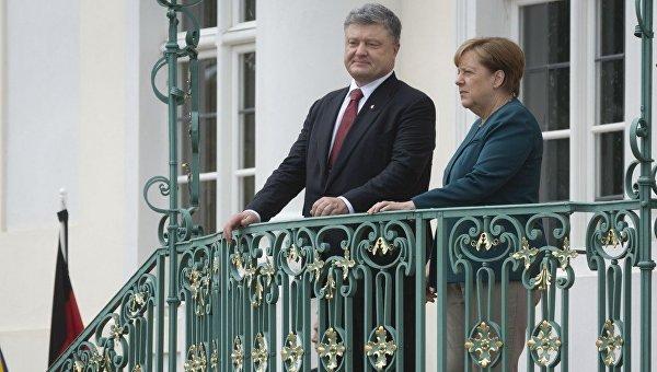 Президент Украины Петр Порошенко и канцлер Германии Ангела Меркель