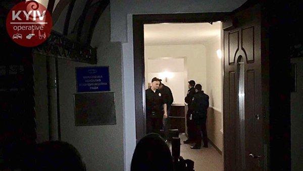 Взрыв вКиеве попал навидео: кабинет украинских радикалов атаковали гранатой