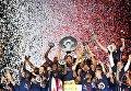 Игроки Монако покрасили головы в красно-белые цвета в честь чемпионства