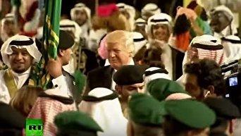 Трамп и Тиллерсон станцевали на приёме у короля Саудовской Аравии