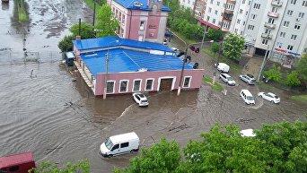 Мощный ливень во Львове