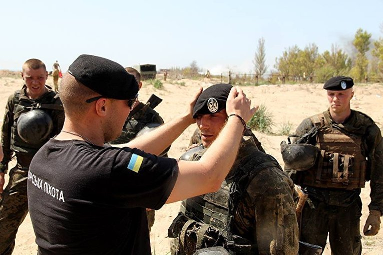 Элита ВМС Украины: экзамен на черный берет морпеха