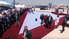 Дональд и Мелания Трамп в Тель-Авиве. Видео