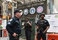 Полиция и военные на улице Нью-Йорка
