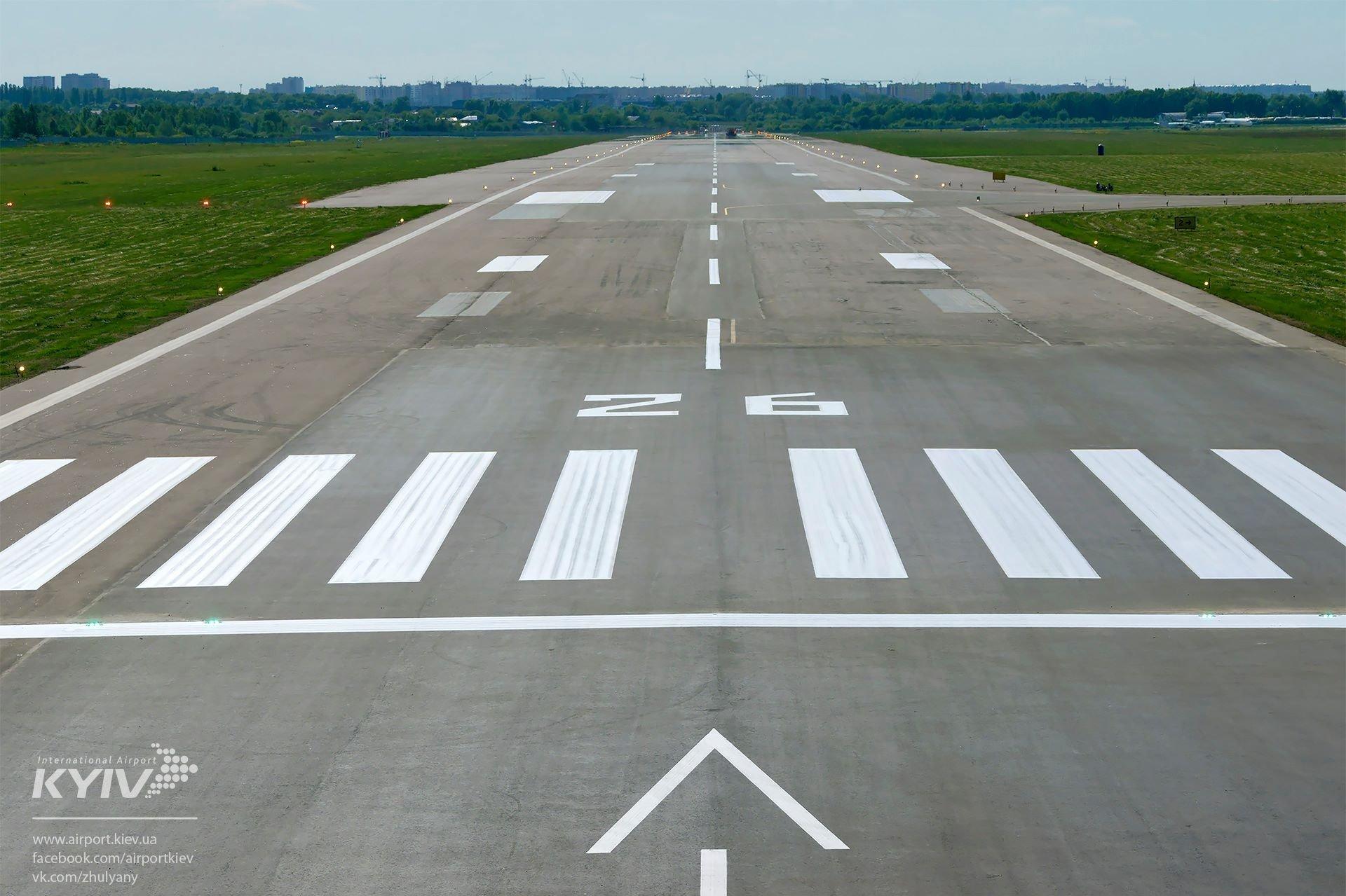 Аэропорт «Жуляны» объявил озавершении ремонта взлетной полосы