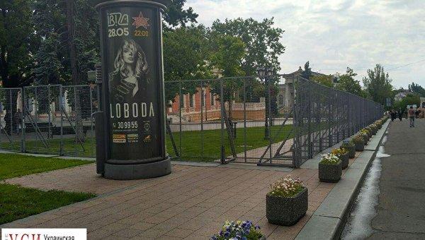 Центр Одессы перед приездом президента Петром Порошенко