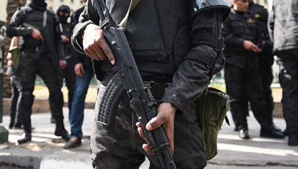 На месте расстрела автобуса в Египте