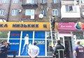 В центре Запорожья за зданием облсовета на аптеку рухнул балкон