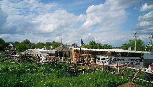 Торговая блокада Донбасса. Архивное фото