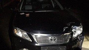ДТП с автомобилем ГПУ в Киеве: виновник скрылся, но оставил документы