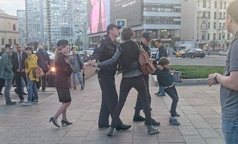 Задержание 9-летнего мальчика в Москве