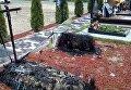 На кладбище в Ирпене неизвестные сожгли могилы бойцов АТО