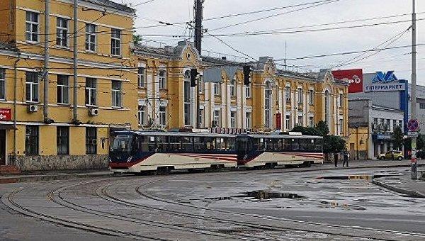 Скоростной трамвай в Киеве. Архивное фото