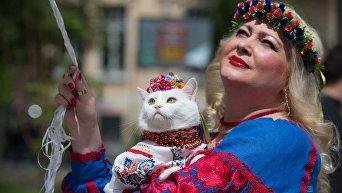 Марш в вышиванках в Киеве